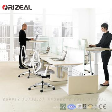 Orizeal Table de travail réglable en hauteur à deux postes de travail pour deux personnes