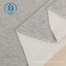Knitted terry types plain fleece fabric for sweatershirts