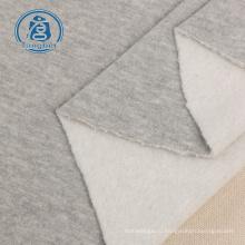Вязаная махровая однотонная флисовая ткань для свитеров