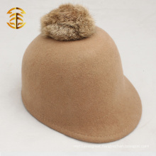 Wholesale Rabbit Fur Ball Wool Equestrian Fashion Felt Hat for Adults