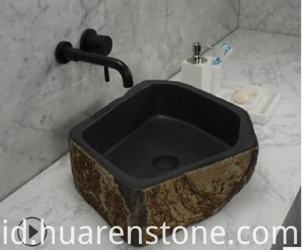 rustic stone sink