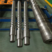 nitrided or bimetallic anti weary screw barrel for plastic sheet extruder