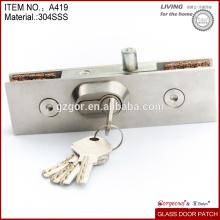 Cerradura de puerta de cristal de acero inoxidable / China alta calidad de ajuste de bloqueo