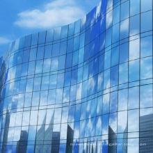 Gehärtetes Glas Vorhang Wand Gebäude