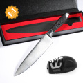 Modern kitchen full gift set 8 Inch kitchen Chef Knife with Sharpener & Gift Box