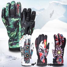 Luvas de esqui ao ar livre aquecidas profissional impermeável da neve do esporte