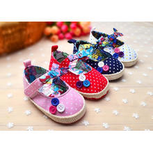 4 Color Cotton Cloth Baby Shoes Printed Infant Toddler Moccasins