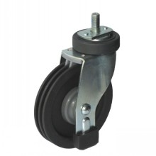 Bolt Hole Type Rigid Shopping Cart Caster (two grooves)