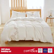 Pedra Vintage lavada 100% roupa de cama de linho / linho