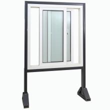 Fenêtre coulissante de nouveau vinyle UPVC de Topbright avec le verre trempé