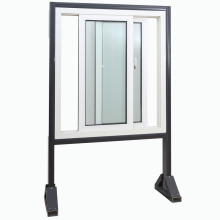Topbright New Vinyl UPVC Sliding Window with Tempered Glass