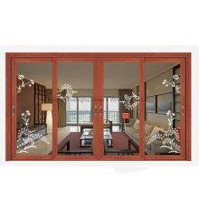 Thermal Break EPDM Aluminum Sliding Golden Oak Window (FT-W132)