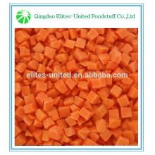 Cenouras em cubos congeladas de boa qualidade