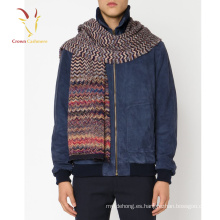 Striped Knit Wool Winter Scarf Personalizar para Hombres
