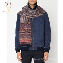 Écharpe d'hiver laine tricotée rayée Personnaliser pour les hommes