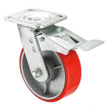 Heavy Duty Caster Series- 4in. W/Dual Brake