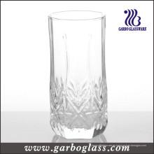 12oz grabado soplando vaso de vidrio