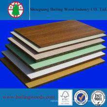 Panneau de particules de bois mélaminé de 18 mm