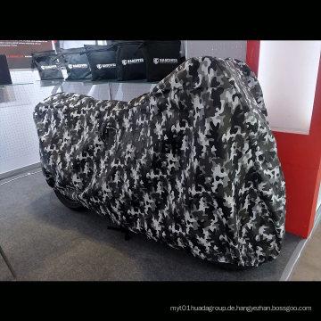 Camouflage Printing Outdoor Motorradabdeckung Fleece Innenschutz