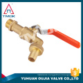 basin garden tap with brass iron handle brass ball stem nut BSP thread PTFE seated sanitary hydraulic wall mounted brass bibcock