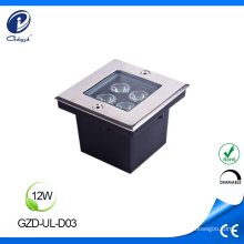 12W stainless steel square lighting led underground lamp