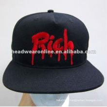 Tampões feitos sob encomenda do snapback / chapéu do snapback / tampão liso with3D EMB logo