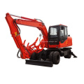 Hot Sell Factory Price Towable Backhoe 15ton Wheel Excavator with Ce