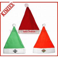 Fleece Bordado Promoción Decoración Regalo Navidad Santa Hat