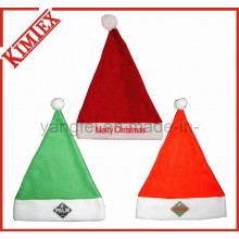 Fleece Embroidery Promotion Decoration Gift Christmas Santa Hat
