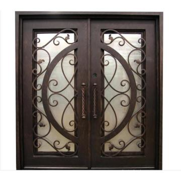 Security Exterior Wrought Iron Steel Doors