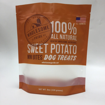 Stand Up Pouch With Window Snack Packaging