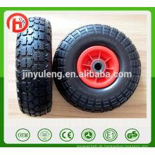 10 Zoll 4.10 / 3.50-4 Stretch Pneumatische Luft Gummirad für Spielzeugauto Handwagen Castor