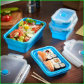 Venda quente Silicone Folding Lunch Box