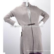 Moda mujer cachemira tejer abrigo suéter