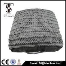Boxes de piso interior de algodão tricotado almofada adulto travesseiro travesseiro
