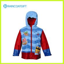 Kids Cartoon PU Regenbekleidung mit Fleece-Futter
