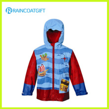 Enfants PU Cartoon Rainwear avec doublure polaire