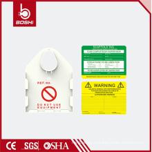 ABS / PA6 Etiqueta de seguridad de andamio blanco con diferentes inserciones de color BD-P36, bloqueo de seguridad BARDY MASTER