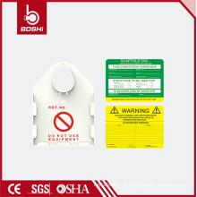ABS / PA6 White Scaffold Safety Tag com diferentes inserções de cores BD-P36, bloqueio de segurança BARDY MASTER