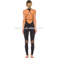 Strappy Body One-pièces de yoga porter noir sexy sport bodycon wear