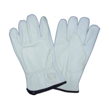 White Cow Grain Driver Glove Safety Work Glove