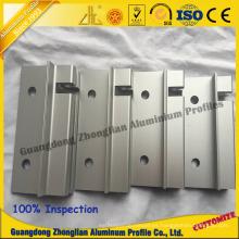 Perfil de aluminio para muebles con perfil de puerta CNC para mecanizado