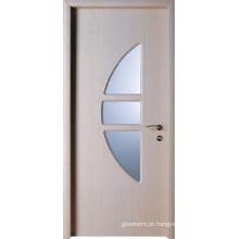 Design de porta de vidro de madeira (WX-PW-134)