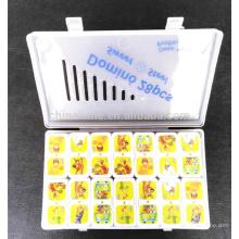 Colorful cartoon theme domino set