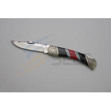 """Couteau pliant en résine et en pierre de couleur 8.6 """"(SE-494)"""