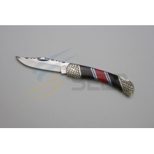 "8.6"" Resin and Color Stone Handle Folding Knife (SE-494)"