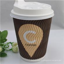 Copo de papel quente do café da máquina de venda automática 12oz