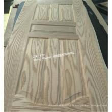 Peau de porte de HDF / peau de porte de placage en bois de la nature HDF en bois / peau de porte de panneau en bois