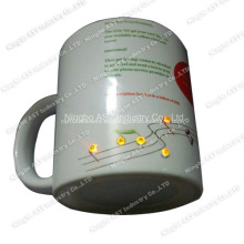Taza LED, taza de Navidad, regalo de promoción, taza de cerámica con LED
