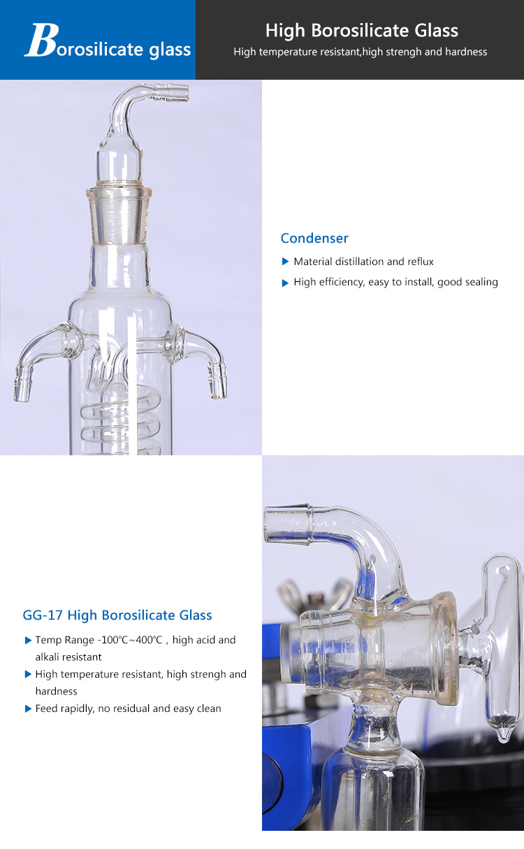 Small Capacity Lab Single Glass Reactor Price